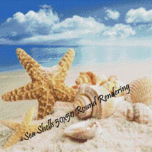 Sea Shells Round Rendering