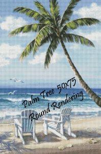Palm Tree Round Rendering