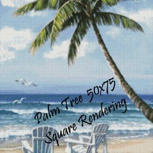 Palm Tree Square Rendering