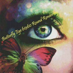 Butterfly Eye Round Rendering