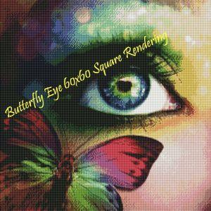 Butterfly Eye Square Rendering