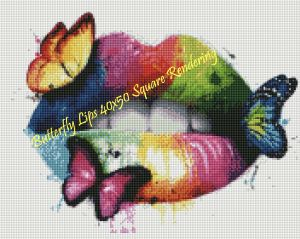 Butterfly Lips Square Rendering