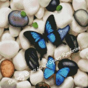 Butterfly Stones Square Rendering