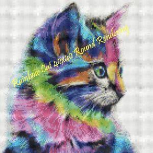 Rainbow Cat Round Rendering