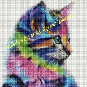 Rainbow Cat Square Rendering