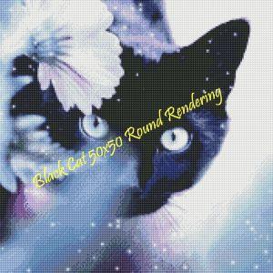 Black Cat Round Rendering