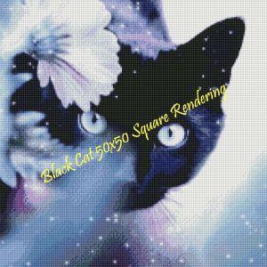 Black Cat Square Rendering