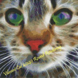 Vibrant Cat Round Rendering