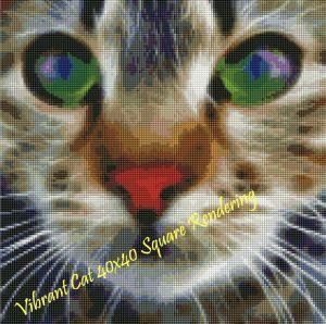 Vibrant Cat Square Rendering
