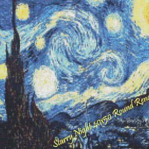 Starry Night Round Rendering