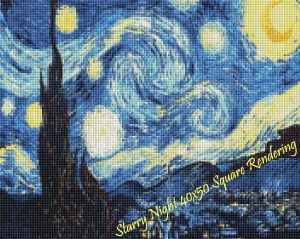 Starry Night Square Rendering