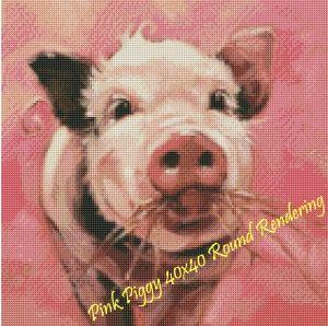 Pink Piggy Round Rendering