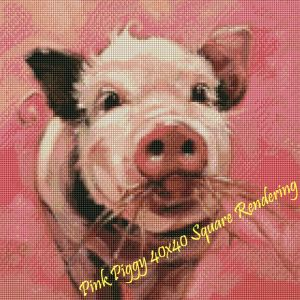 Pink Piggy Square Rendering