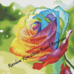 Rainbow Rose Round Rendering