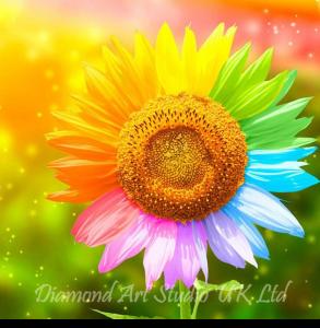 Rainbow Sunflower Image