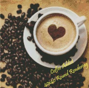 Coffee Addict Round Rendering