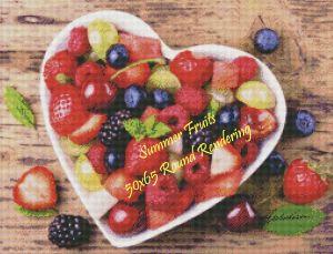 Summer Fruits Round Rendering