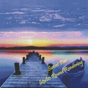 Sunset Pier Round Rendering