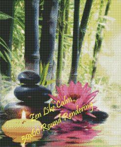 Zen Like Calm Round Rendering