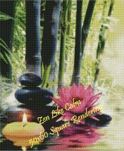 Zen Like Calm Square Rendering