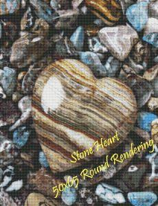 Stone Heart Round Rendering