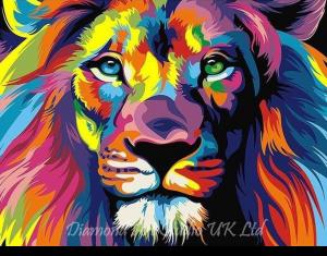 Pop Art Lion Image