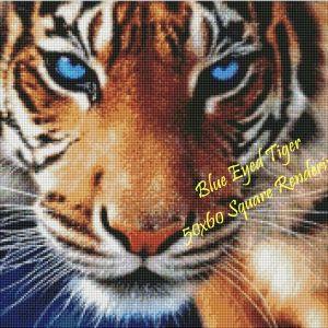 Blue Eyed Tiger Square Rendering