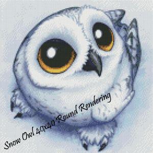 Snow Owl Round Rendering
