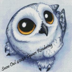 Snow Owl Square Rendering