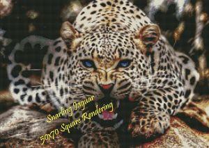 Snarling Jaguar Square Rendering