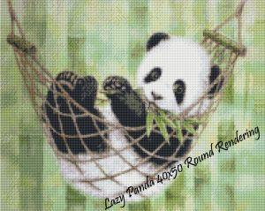 Lazy Panda Round Rendering
