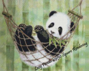 Lazy Panda Square Rendering