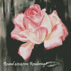 Pink Rose Round Rendering