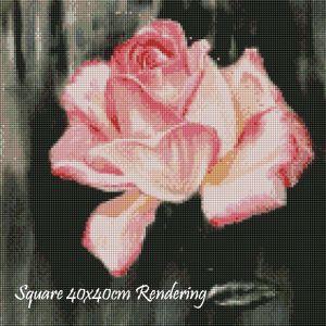 Pink Rose Square Rendering