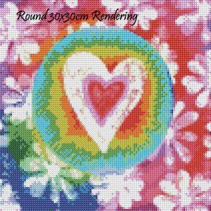 Groovy Love Round Rendering